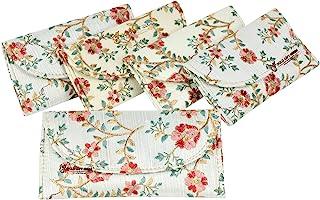 GoldGiftIdeas Cream Floral Embellished Potli Purse for Return Gifts, Potli Bags for Women, Potli Purse for Party, Potli Po...