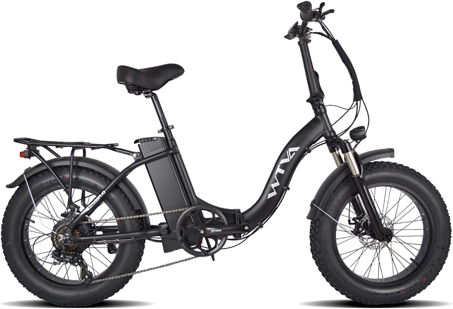 online shop 750W Folding Electric Bike Los Angeles Mall Step Tire Fat Bicycl Through