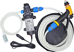 12V 80W Portable Self-Priming Water Pump Kit, High Pressure Washer with Car Charger for Marine Deck, Car Campervan, Gardening and Camping, Pet(131PSI)