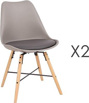 Menzzo de chaises Scandinave Lisa BlancPolypropylène 4 Lot n0OwP8k