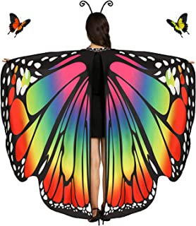 Butterfly Wings Butterfly Shawl Fairy Ladies Cape for Women Nymph Pixie Halloween Costume Accessory