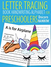 Letter Tracing Book Handwriting Alphabet for Preschoolers Unicorn Rainbow: Letter Tracing Book  Practice for Kids   Ages 3+   Alphabet Writing ...   Kindergarten   toddler   Unicorn Rainbow