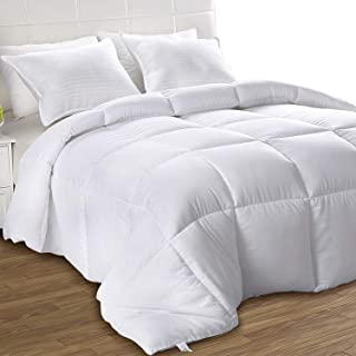 Utopia Bedding Down Alternative Comforter (Twin/Twin XL, White) - All Season Comforter - Plush Siliconized Fiberfill Duvet Insert - Box Stitched
