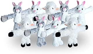 Wild Republic Huggers Easter Collection, Plush Toy, Slap Bracelet, Bunny Plush, Lamb Plush, Easter Basket Clip, 9Piece Set
