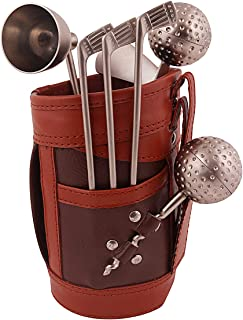 Msa Jewels Exclusive Steel Golf Bar Set with Beautiful Leatherette Bag for Birthday I Anniversary I Corporate I Wedding Gifts
