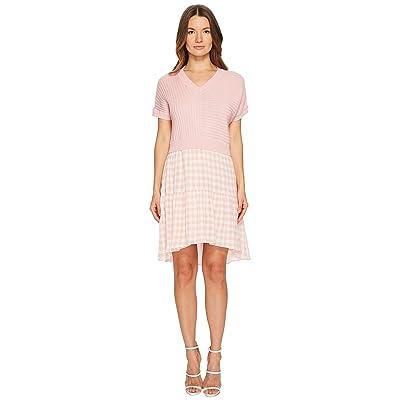 Boutique Moschino Dress w/ Pattern Bottom (Pink Gingham) Women