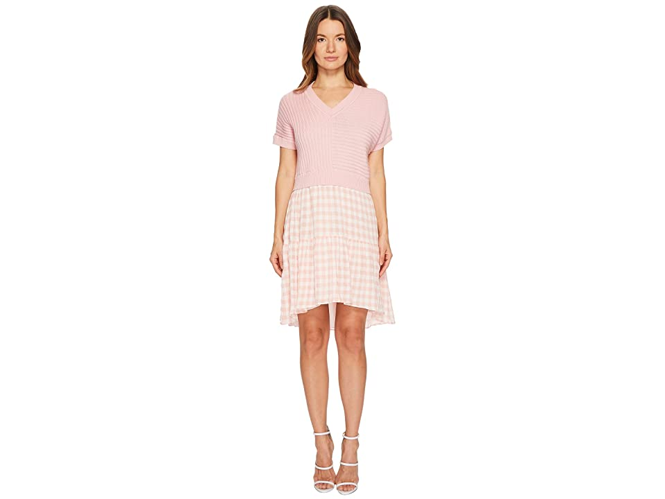 Boutique Moschino Dress w/ Pattern Bottom (Pink Gingham) Women