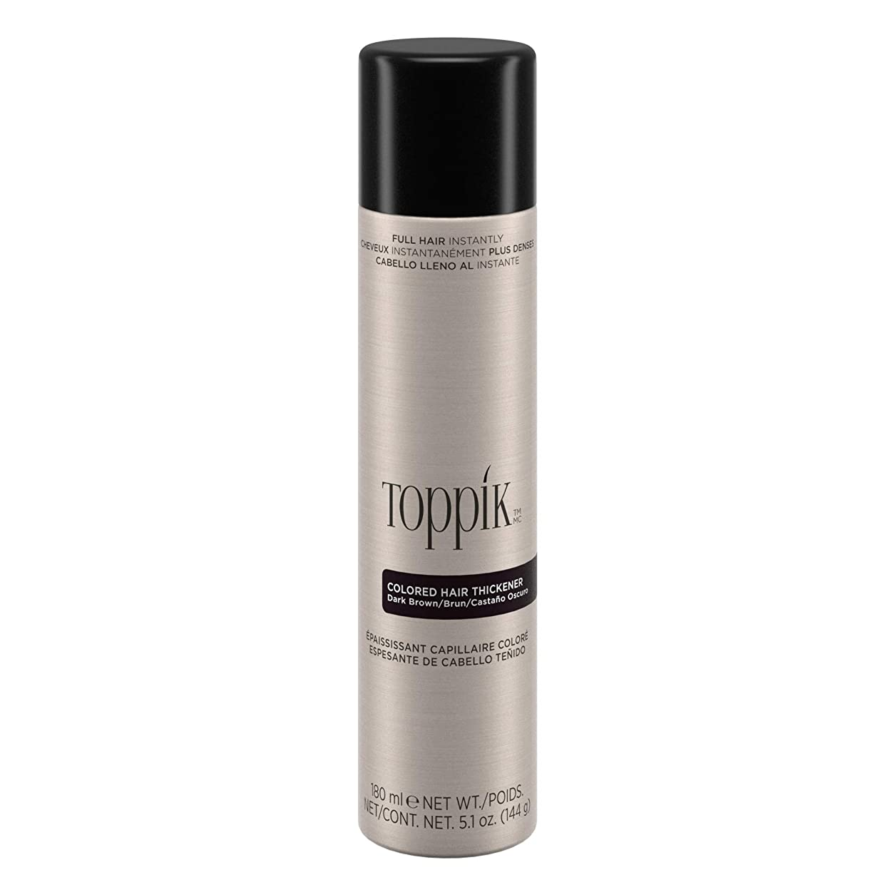 簡潔ないろいろ会話TOPPIK 色の髪増粘剤、5.1オンス ダークブラウン