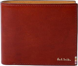 [名入れ可] ポールスミス Paul Smith 正規品 本革 二つ折り 財布 マルチストライプタブ レザー 牛革 ショップバック付き 873583 P094