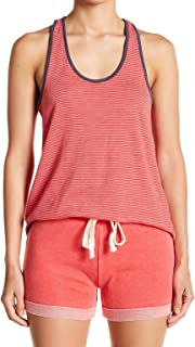 Alternative Red Womens US Size Small S Scoop Neck Striped Tank Top