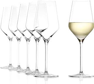 Stölzle Lausitz Weißweinkelch Quatrophil 405ml I Weißweinglas 6er Set I Weingläser spülmaschinenfest I Weißweingläserset bruchsicher I wie mundgeblasen I edles Kristallglas I Beste Qualität