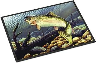 "Caroline's Treasures PTW2039MAT Rainbow Trout Indoor or Outdoor Mat, 18 x 27"", Multicolor"