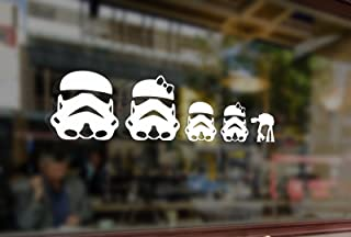 25cm Fun Stick Family Star Wars Stormtroopers Vinyl Stickers Funny Decals Bumper Car Auto Computer Laptop Wall Window Glass Skateboard Snowboard