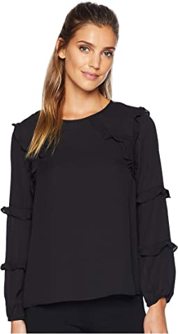 Long Sleeve Tiered Ruffle Blouse