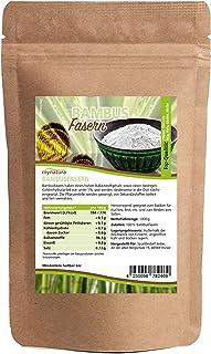 Mynatura Bambusfasern gemahlen 1000g - Bambus - Glutenfrei - Kohlehydratarm - Fitnessfood - Schonend Verarbeitet - Ballaststoffreich - Natur - Beutel 1 x 1kg