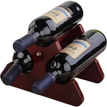 Cherish Wine Rack, Standing Wine Storage Racks, Wine Racks Countertop, Wooden Wine Bottle Holder, Wine Shelf, 6/3 Bottle