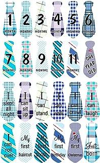Bébé Mensuel Milestone Autocollants, 24 Bébé Mois Stickers Combinaison Stickers Photographie Accessoire, Grenouillère Stic...