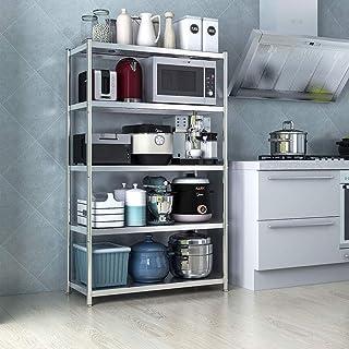 Rack de almacenamiento de microondas 5-Tier cocina de metal de almacenamiento Bastidores Horno Microondas Standfor estante de especia estación de trabajo Organizador Organizador del horno Baker's Spic
