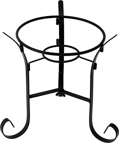 popular Sunnydaze Traditional Style Gazing Ball Stand for 10-Inch or 12-Inch Outdoor high quality Garden Gazing Globes, Black high quality Steel, 9-Inch Tall sale