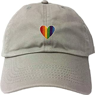 Adult Rainbow Heart Embroidered Dad Hat