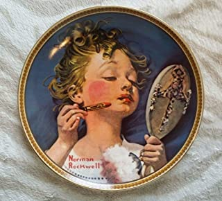 Knowles Norman Rockwell Plate - Making Believe At The Mirror - 1982 Rockwell's Rediscovered Women