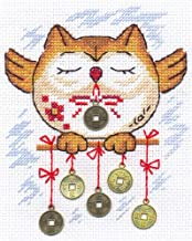 """Panna Embroidery Kit - Asian Motifs Cross Stitch Kits for Beginners and Adults - Counted 5.5"""" x 6.6"""" or 14 x 17cm - DIY Cross Stich Kit - Fun Needlework Pattern (Profit in Business)"""