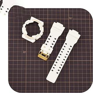 Cool-Guy Rubber Watchband for Casio G Shock Ga 110/100 Ga 120 Gd 110 Sport Waterproof Strap Bracelet Accessories-White G-Watchbandxcase