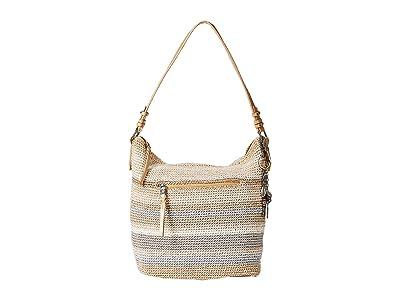 The Sak Sequoia Crochet Hobo (Sand Stripe) Hobo Handbags