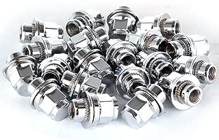 SCITOO 20PCS Silver Chrome Spline Lug Nuts for 13/16