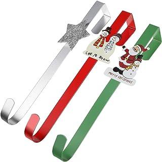 3 Pièces 12 Pouces Cintres de Guirlande de Noël Crochets de Porte de Dessin Animé Cintres de Porte d'Entrée de Bonhommes d...