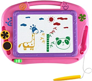 Magnetic Drawing Board for Kids- Erasable Colorful Magna Doodle Drawing Board Toys for Kids Writing Sketching Pad - Little...