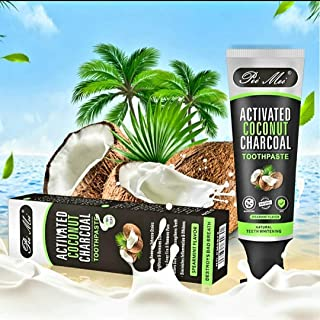 Organic Bamboo Activated Charcoal Coconut Fluoride Free Vegan All Natural Teeth Whitening Stain Removal Toothpaste