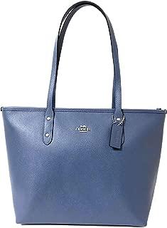 Coach Crossgrain Leather City Zip Tote Purse Bag Handbag