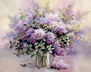 Lilacs Flowers Art Print of Watercolor Painting - Flower, Nature, Peaceful Gift Watercolors