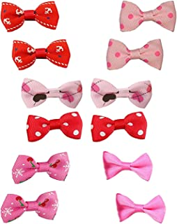 Itplus Pet Dog Hair Clips Small Bowknot Grooming Topknot Bows Puppy Cat Hair Accessories