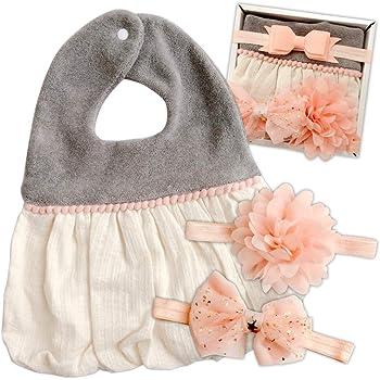 Amore mare(アモーレマーレ)ベビー スタイ 女の子 出産祝い ギフト プレゼント お誕生日 お食い初め お宮参り ピンク