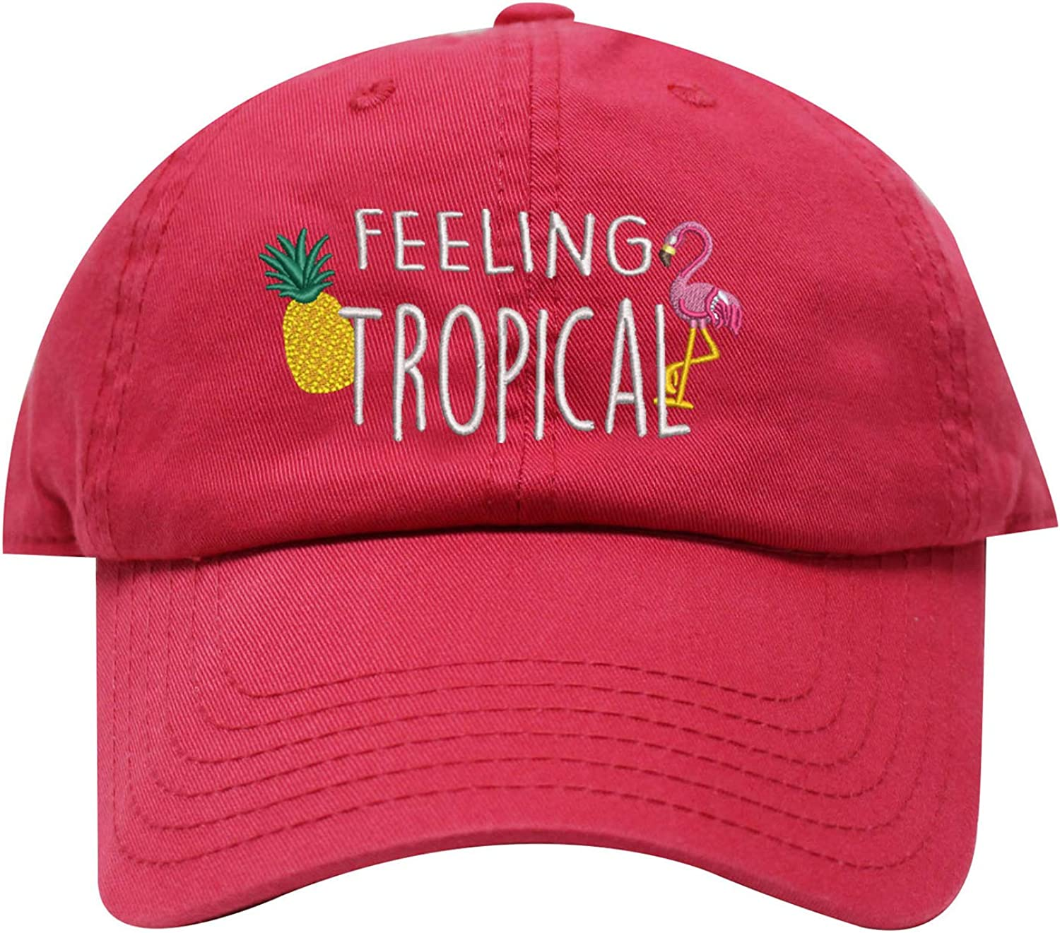 Indianapolis Mall INK STITCH Unisex USA Feeling Tropical 22 Cotton Baseball Caps Max 54% OFF -