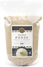 Yolele Fonio African Ancient Grain Super Food High Protein Gluten-Free Fast Cooking Vegan Premium Quality 50 Servings Bulk 5 Lb Pouch (80-Ounce)