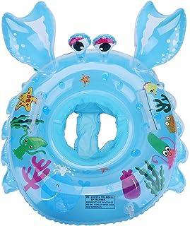 EKKONG Flotador Bebé, Flotador Inflable para Bebé, Anillo de Natación para Bebés, Piscina Hinchables Niños con Asiento 6 a 48 Meses (Azul