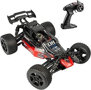 Hosim Radio Remote Control Car High Speed RC Cars 1:14 Scale 4WD 36+ km/h Off Road Buggy Monster Truck, All Terrain Waterproof Electric Drift Toy Trucks for Kids and Adults(Red)