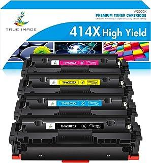 True Image Compatible Toner Cartridge Replacement for HP 414X 414A W2020X W2020A Laserjet Pro MFP M479fdw M479fdn M479 Las...