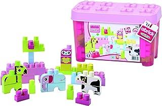 Ecoiffier Girls abrick Les Maxi animals Barrel Construction Blocks - 4 Years & above