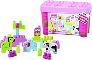 Ecoiffier Girls abrick Les Maxi animals Barrel Construction Blocks - 4 Years & above