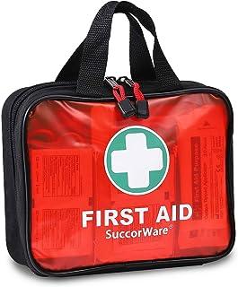 کیت کمک های اولیه 200 قطعه ای با تجهیزات پزشکی درجه بیمارستانی - شامل پتو اضطراری ، بانداژ ، قیچی - مناسب برای خانه ، فضای باز ، مطب ، ماشین ، مسافرت ، کمپینگ ، پیاده روی ، قایقرانی (قرمز)