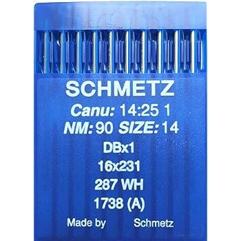 SCHMETZ - Agujas para máquina de coser industrial CANU 14,25 1 ...