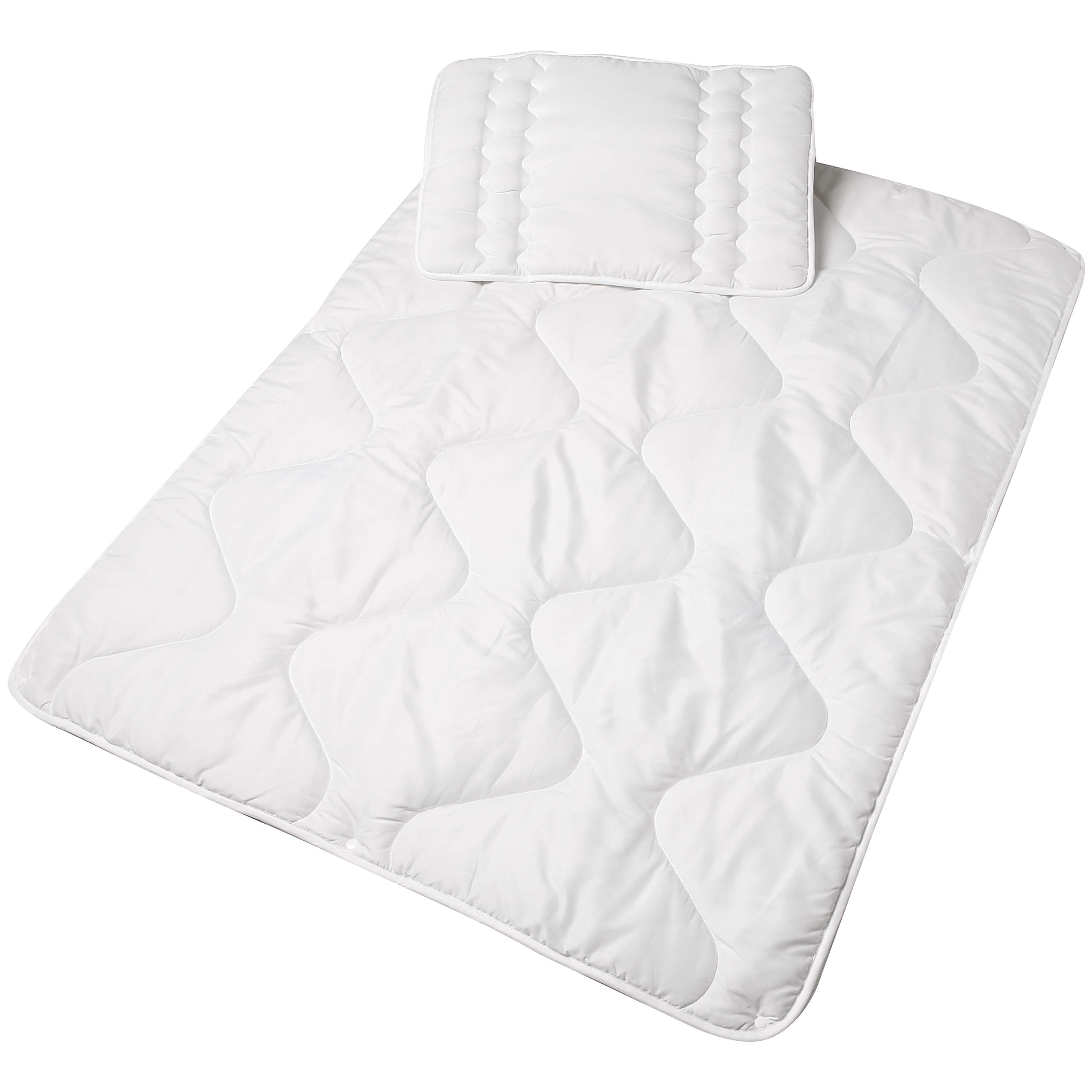 Amazon Basics Baby Duvet Set, 4-Season, 100x135 cm, White