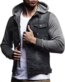 HOP FASHION Mens Casual Cotton Button Down Denim Jacket