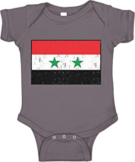 Amdesco Flag of Syria Syrian Infant Bodysuit