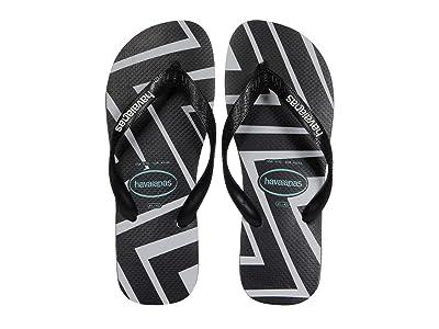 Havaianas Top Zigzag Sandal (Black) Men
