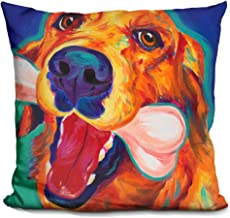 LiLiPi My Favorite Bone Decorative Accent Throw Pillow